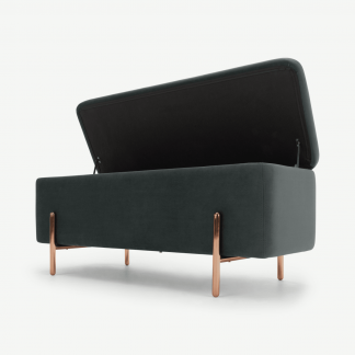 Retrocow Asare 110cm Upholstered Ottoman Storage Bench