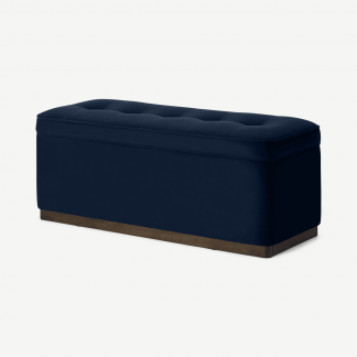 Retrocow Lavelle Ottoman Bench with Walnut Stain Plinth